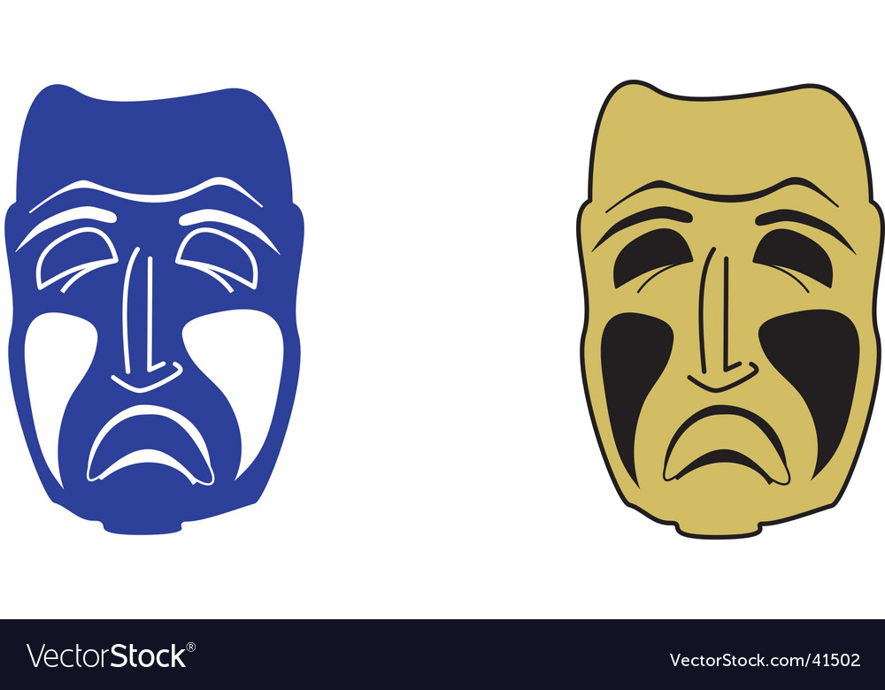 Sad mask vector | Price: 1 Credit (USD $1)
