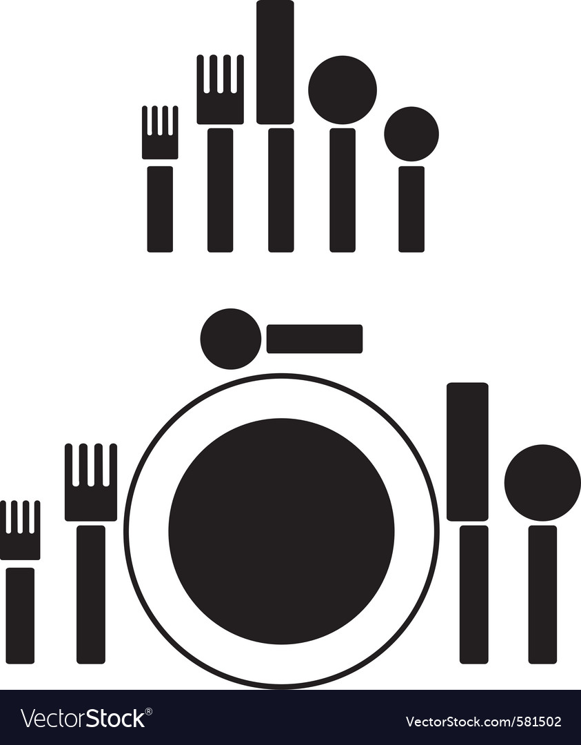 Silverware pictogram vector | Price: 1 Credit (USD $1)