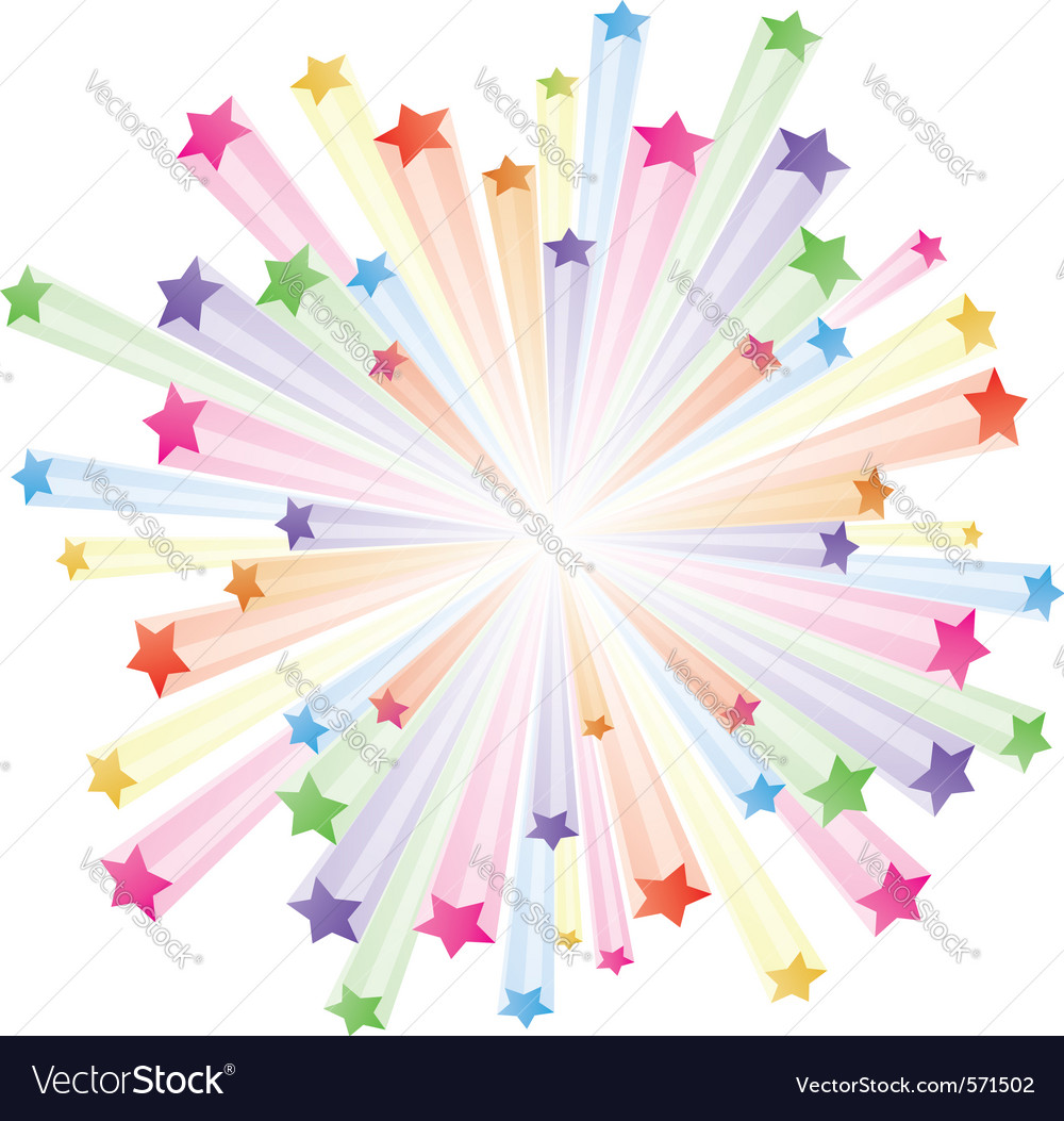 Stars explode vector | Price: 1 Credit (USD $1)