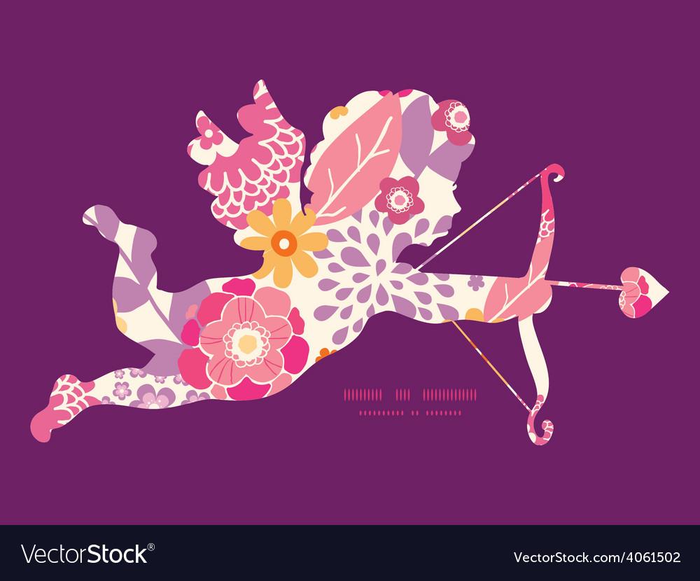 Warm summer plants shooting cupid vector | Price: 1 Credit (USD $1)