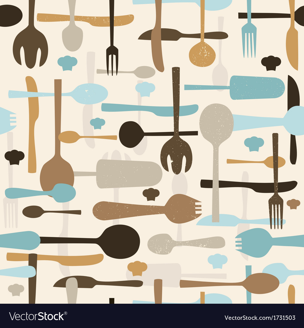 Cutlery seamless pattern background vector   Price: 1 Credit (USD $1)