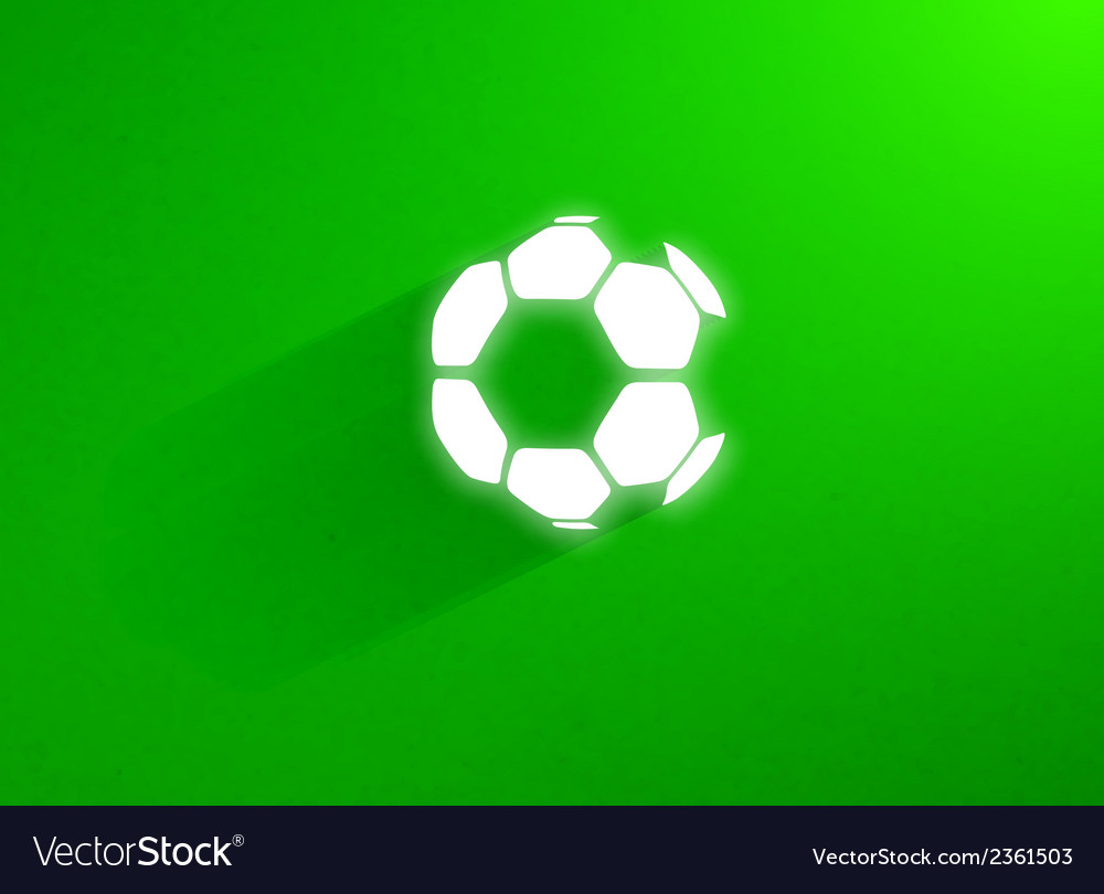 Flat soccer ball flying through the green grass vector | Price: 1 Credit (USD $1)