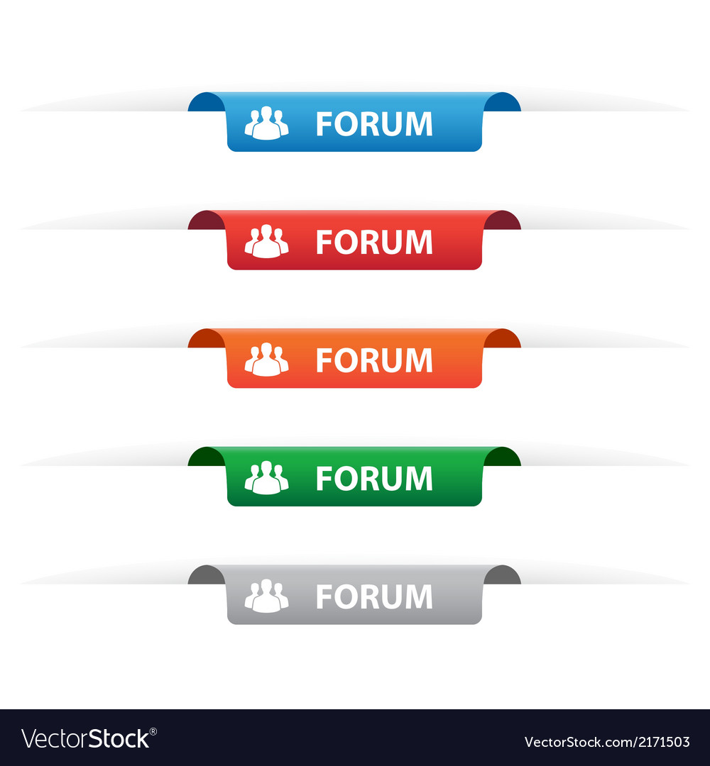 Forum paper tag labels vector | Price: 1 Credit (USD $1)
