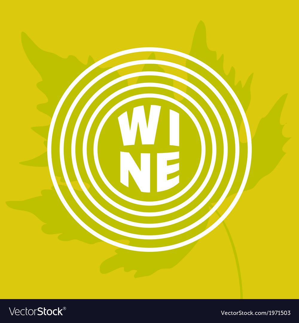 Grape leaf in circle vector | Price: 1 Credit (USD $1)
