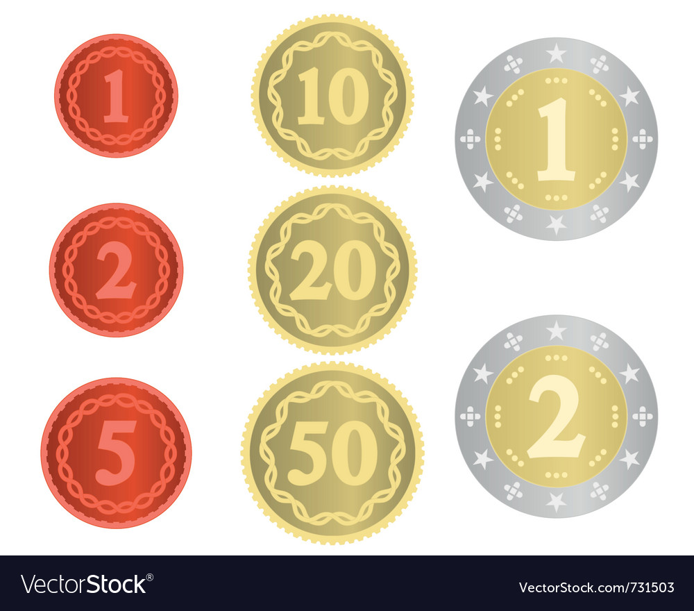 Imaginary collection of coins vector | Price: 1 Credit (USD $1)