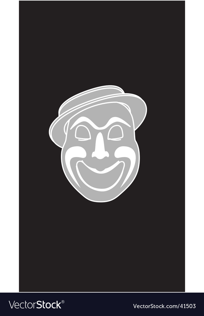 Laughing clown vector | Price: 1 Credit (USD $1)
