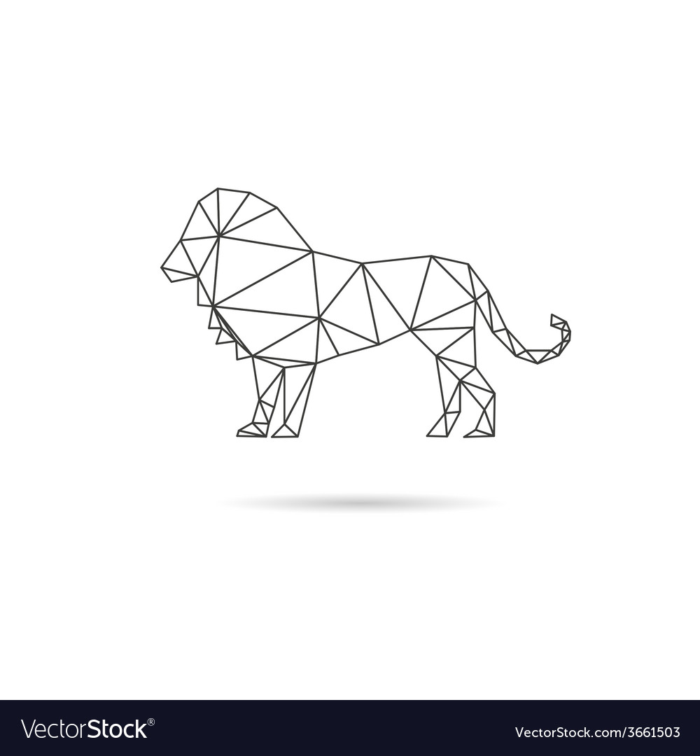 Lion abstract isolated vector | Price: 1 Credit (USD $1)