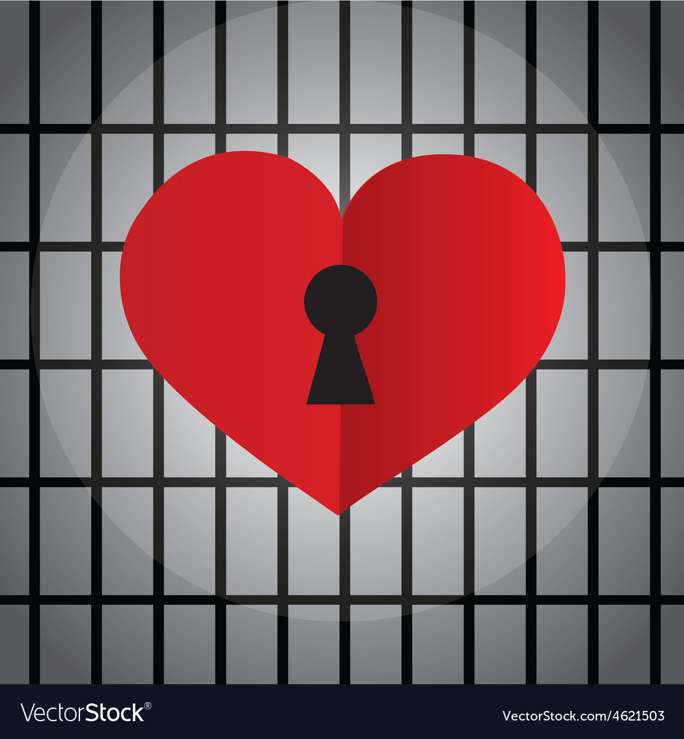 Locked heart with keyhole vector | Price: 1 Credit (USD $1)