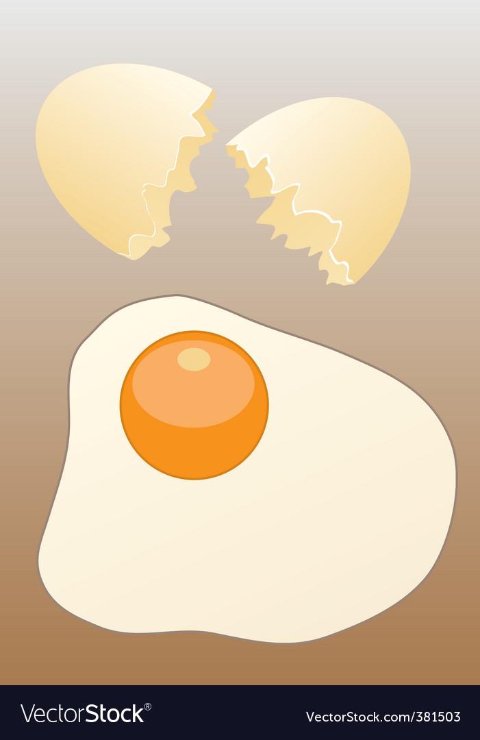 Scrambled egg vector | Price: 1 Credit (USD $1)