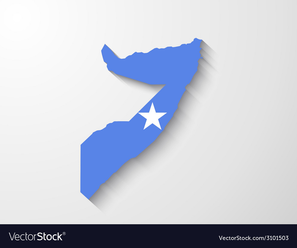 Somalia map with shadow effect presentation vector | Price: 1 Credit (USD $1)