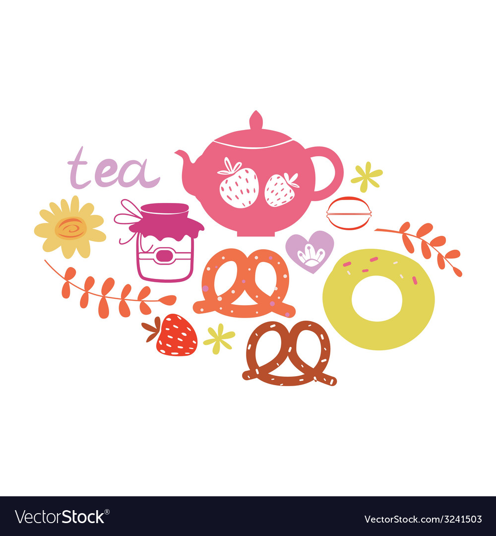 Tea composition vector | Price: 1 Credit (USD $1)