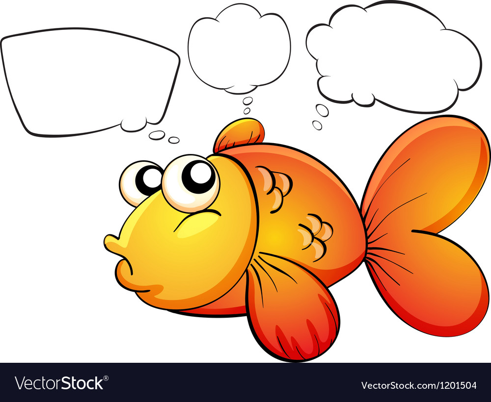 A gold fish and the empty callouts vector | Price: 1 Credit (USD $1)