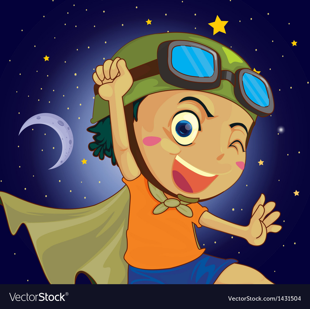 A very happy child vector | Price: 1 Credit (USD $1)