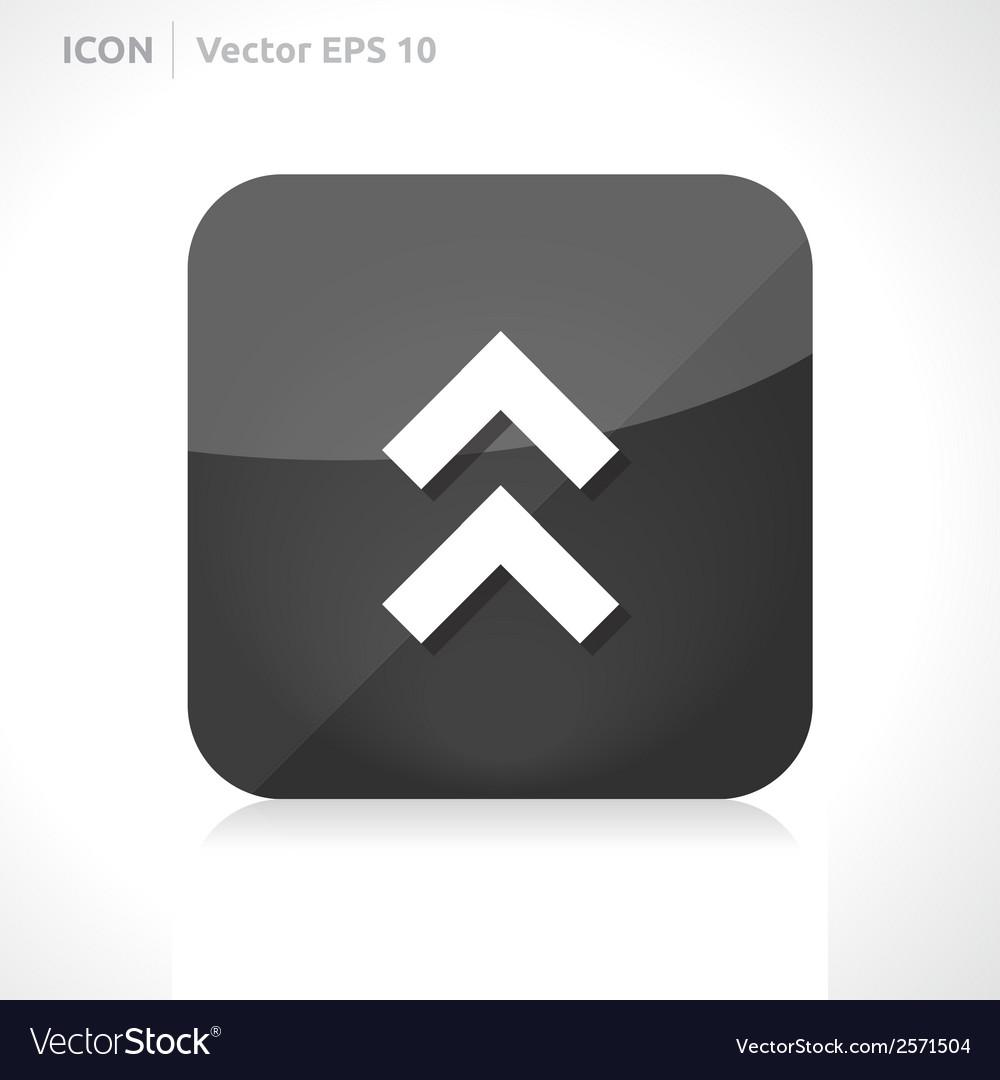 Arrow up icon vector | Price: 1 Credit (USD $1)