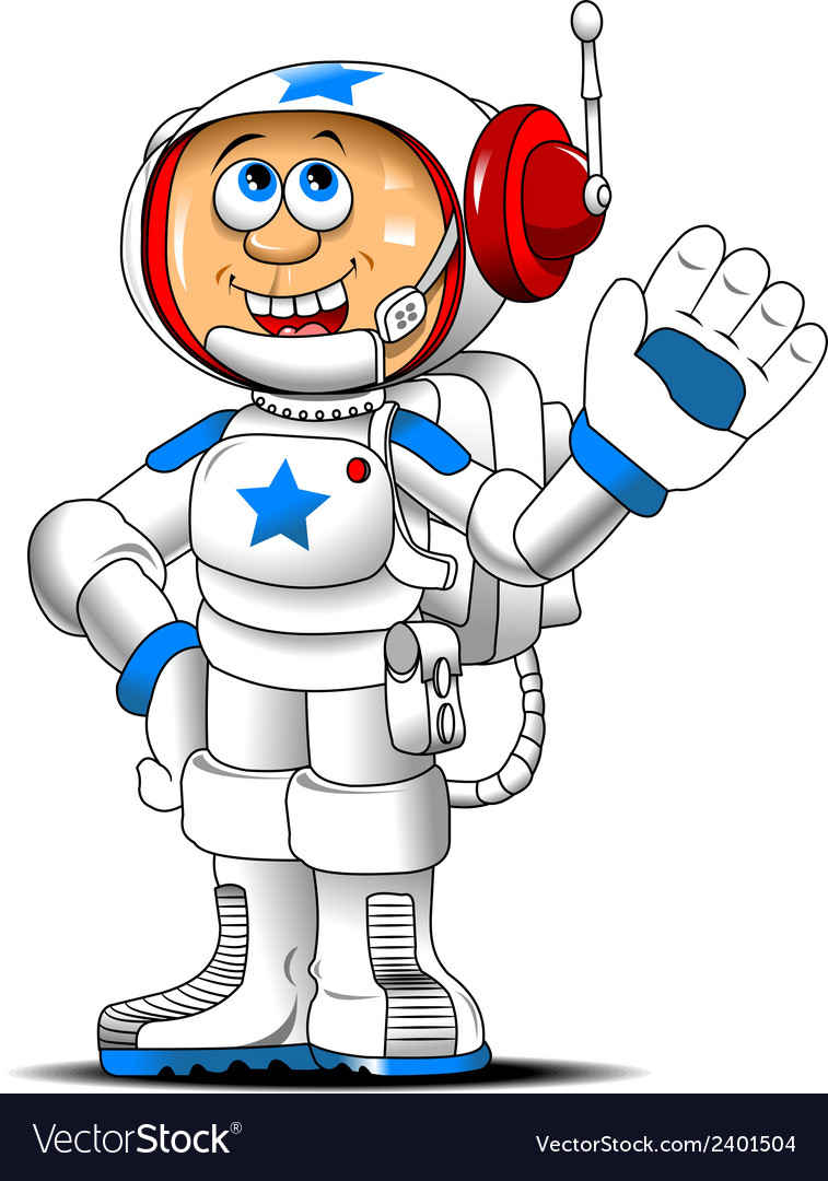Astronaut cartoon vector | Price: 1 Credit (USD $1)