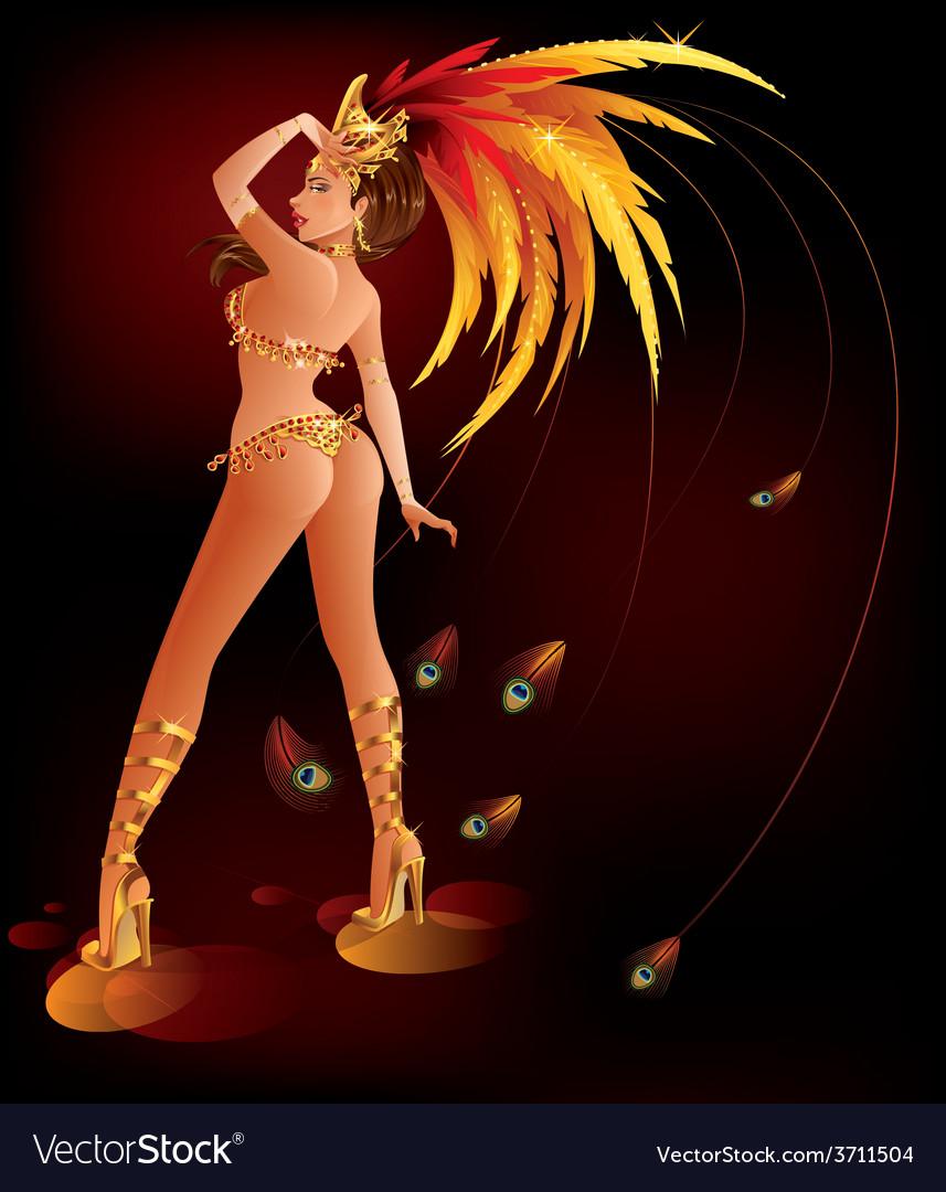 Carnival dancer vector | Price: 3 Credit (USD $3)