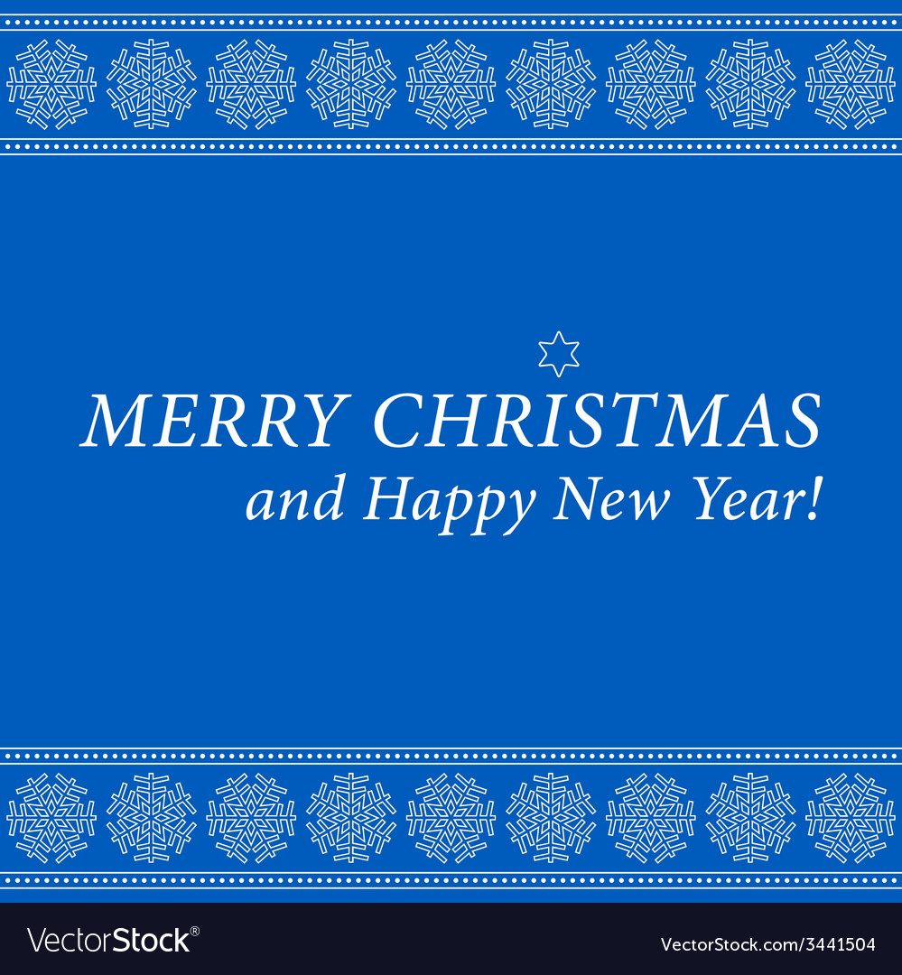 Christmas and new year card-ornamental snowflakes vector | Price: 1 Credit (USD $1)
