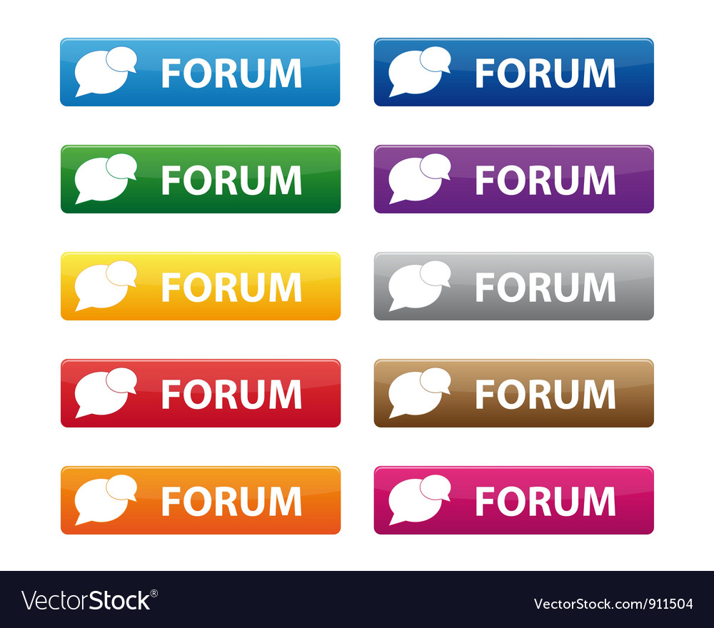 Forum buttons vector | Price: 1 Credit (USD $1)