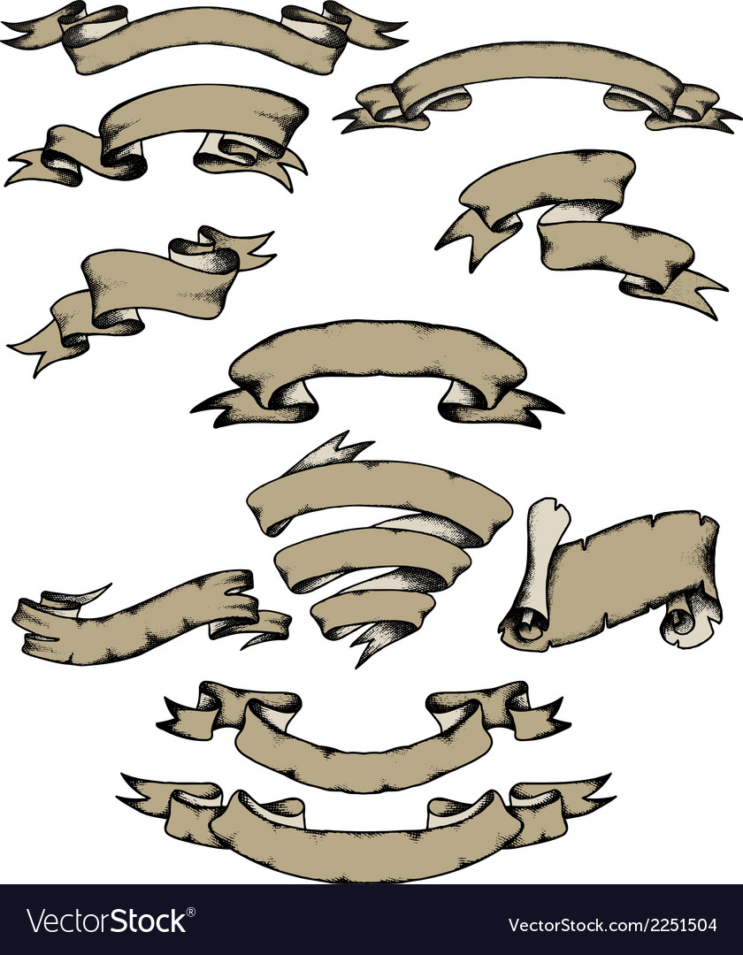 Hand-drawn banners vector   Price: 1 Credit (USD $1)
