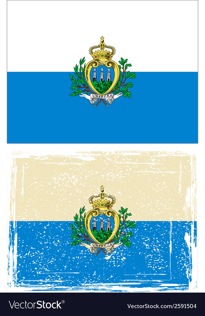 San marino grunge flag vector | Price: 1 Credit (USD $1)