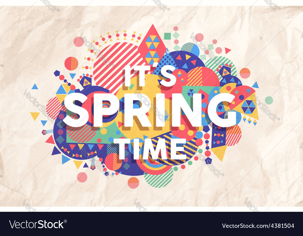 Spring time quote poster design vector | Price: 1 Credit (USD $1)