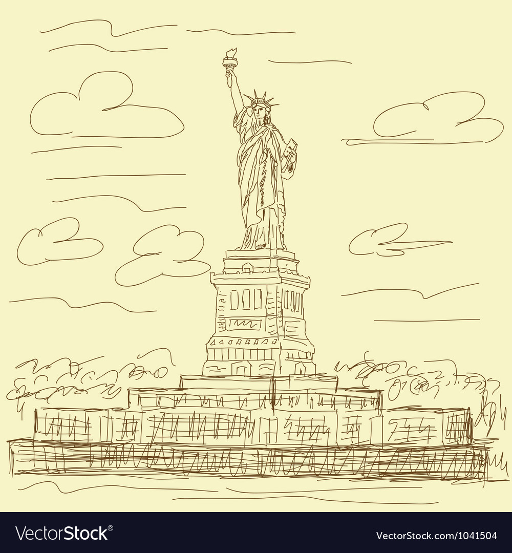 Statue of liberty vintage vector | Price: 1 Credit (USD $1)