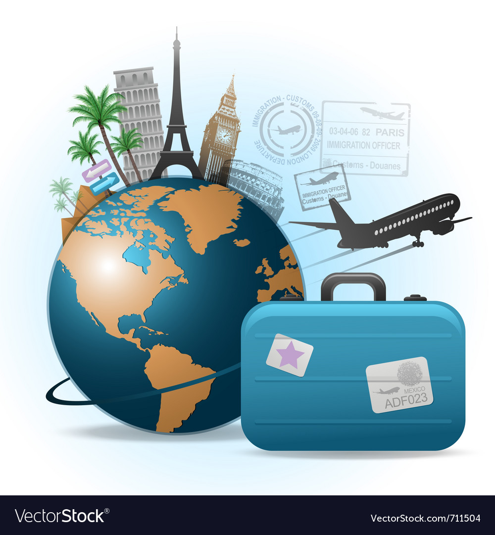 Travel background concept vector | Price: 3 Credit (USD $3)