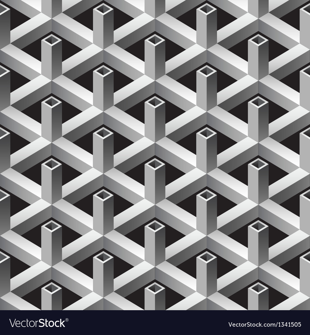 3d square pipes seamless pattern vector | Price: 1 Credit (USD $1)