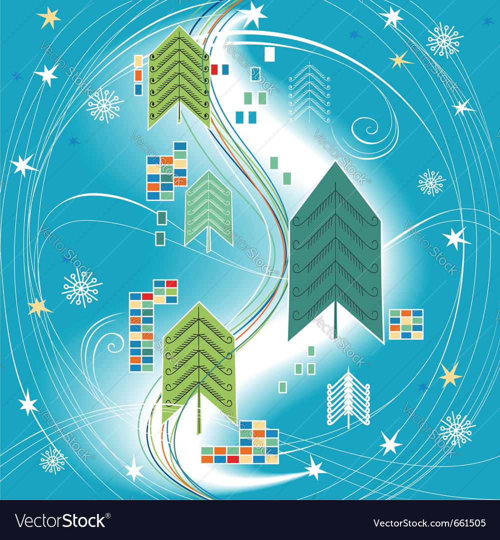 Abstract christmas background on blue for design vector | Price: 1 Credit (USD $1)