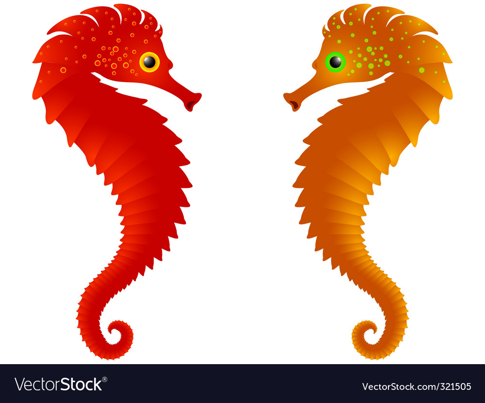 Abstract sea horses background vector | Price: 1 Credit (USD $1)