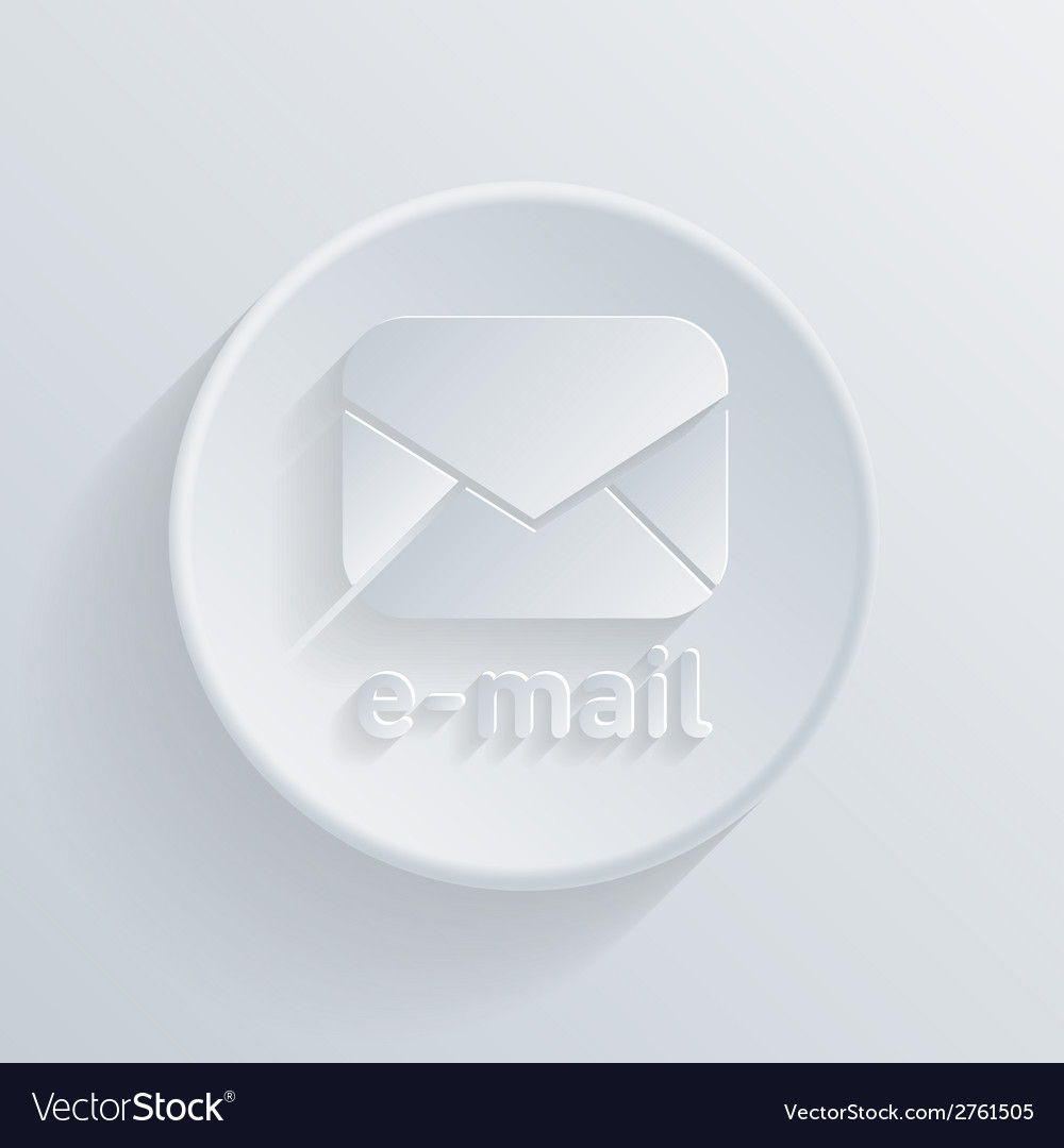Circle icon with a shadow postal envelope vector | Price: 1 Credit (USD $1)