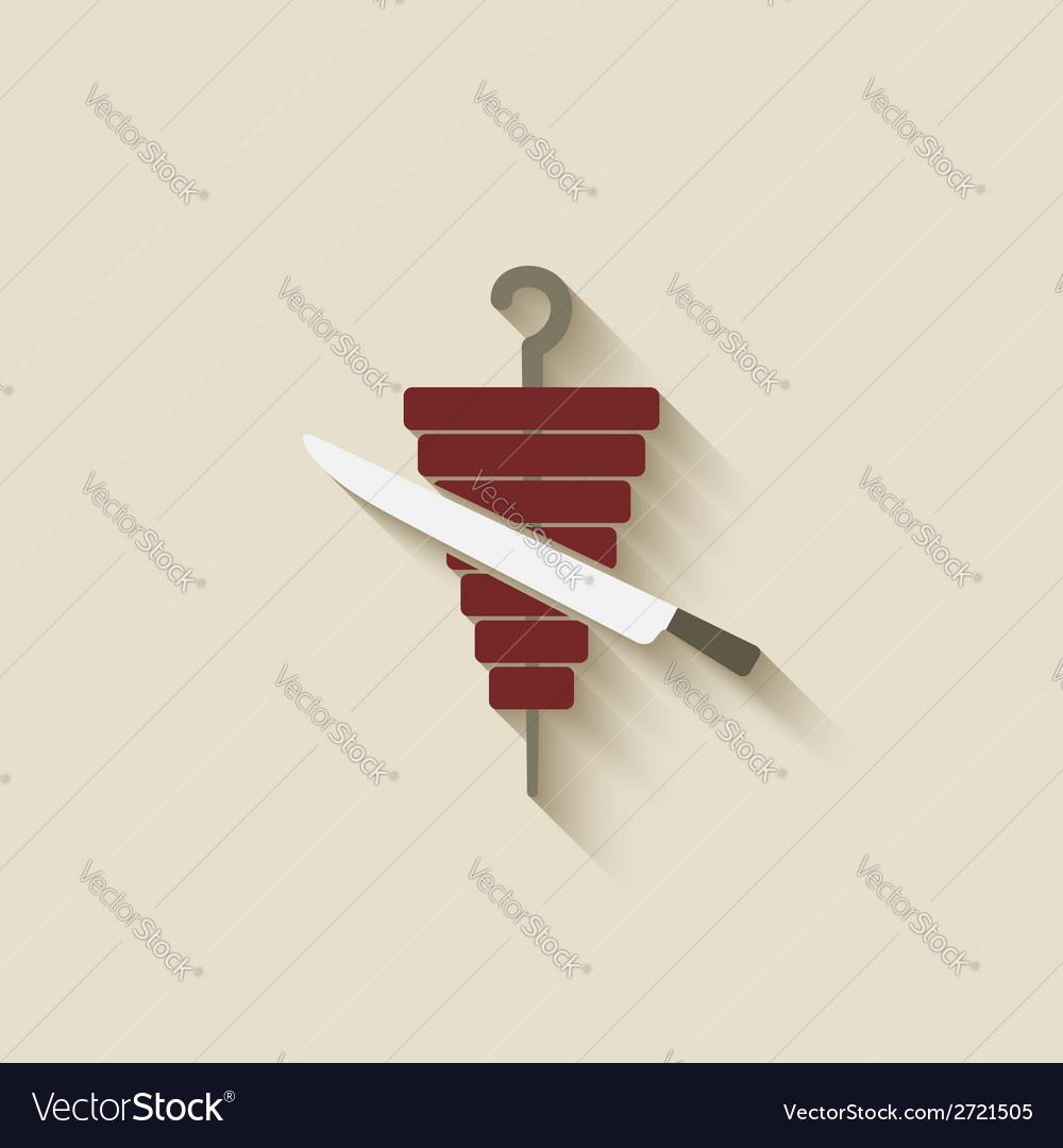 Doner kebab design element vector | Price: 1 Credit (USD $1)