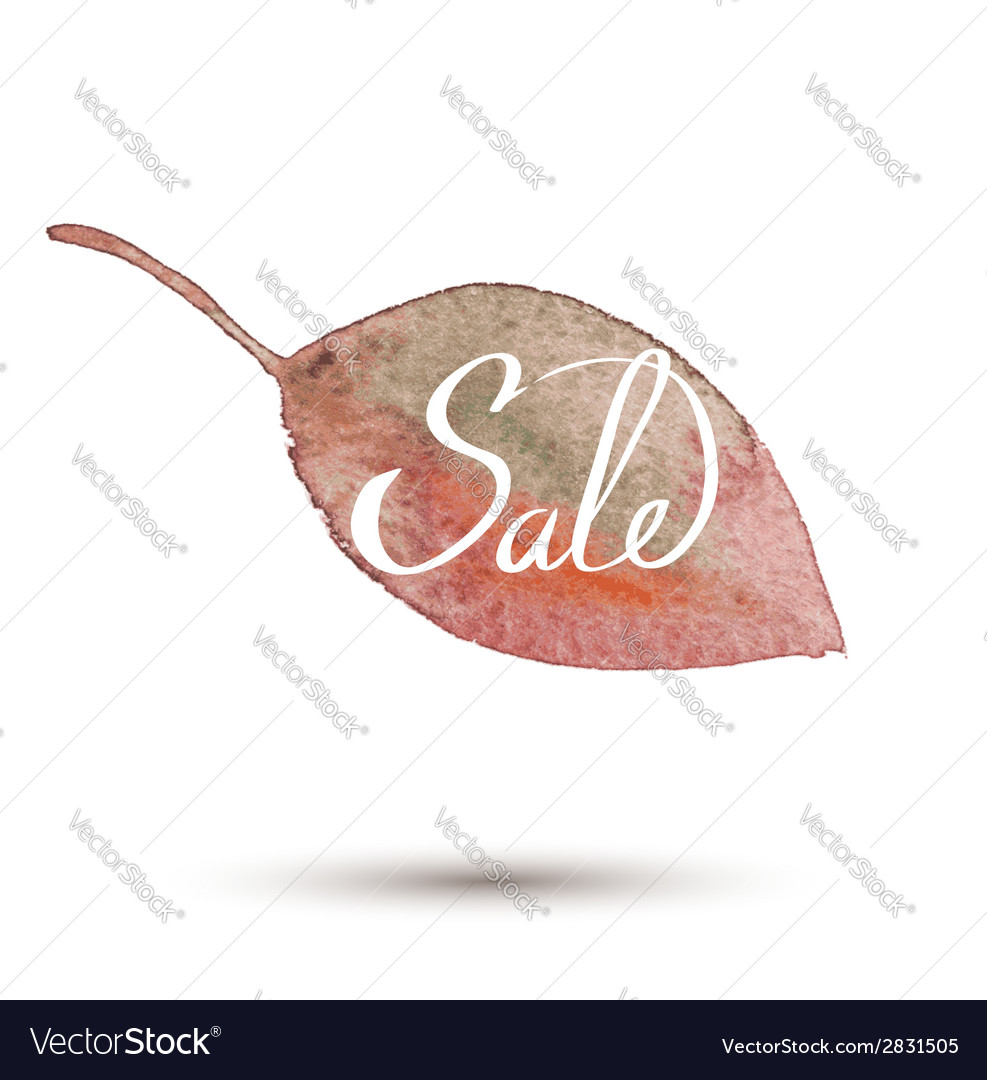 Fall sale watercolor leaves vector | Price: 1 Credit (USD $1)