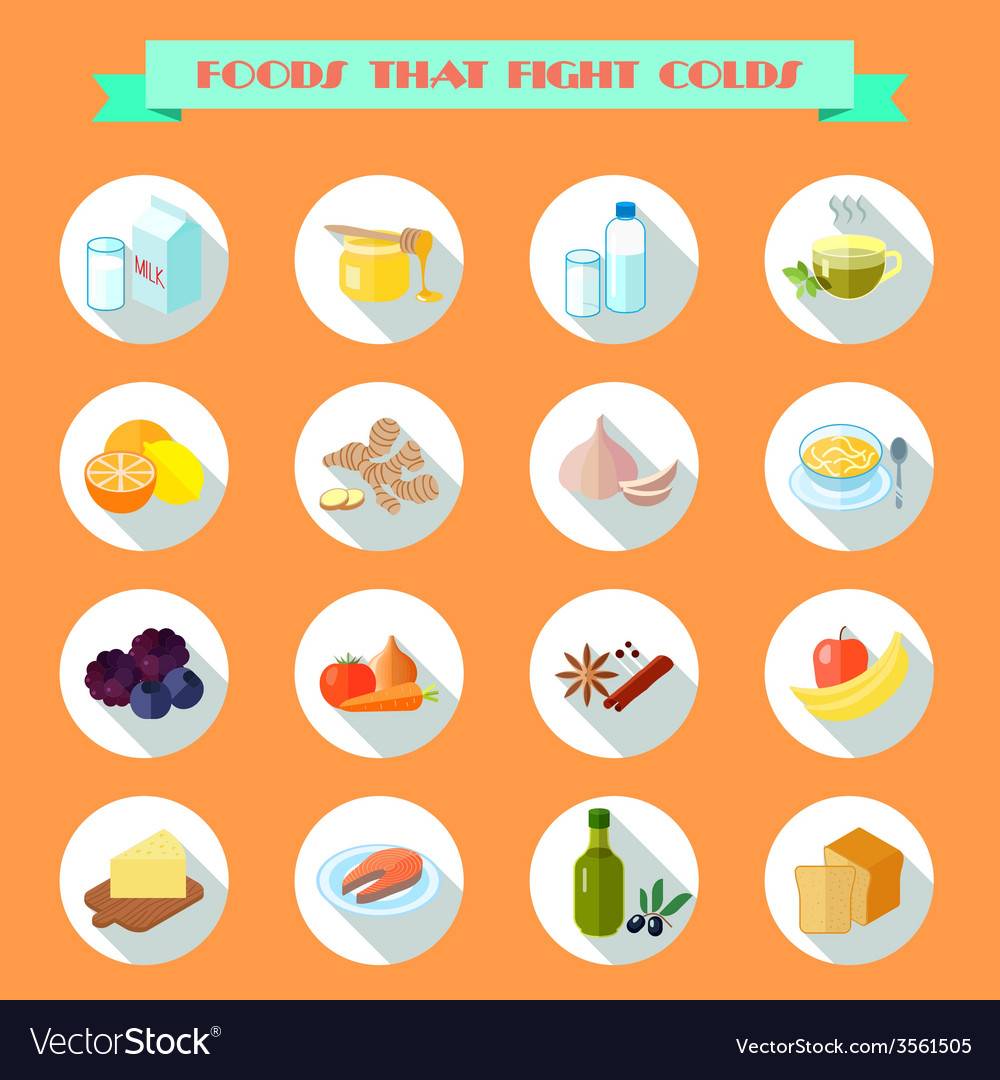 Food for cold icons vector | Price: 1 Credit (USD $1)