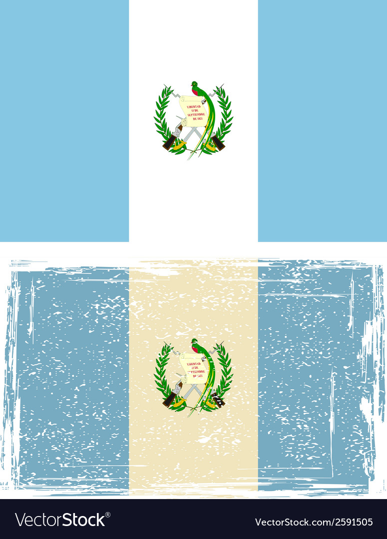 Guatemala grunge flag vector | Price: 1 Credit (USD $1)