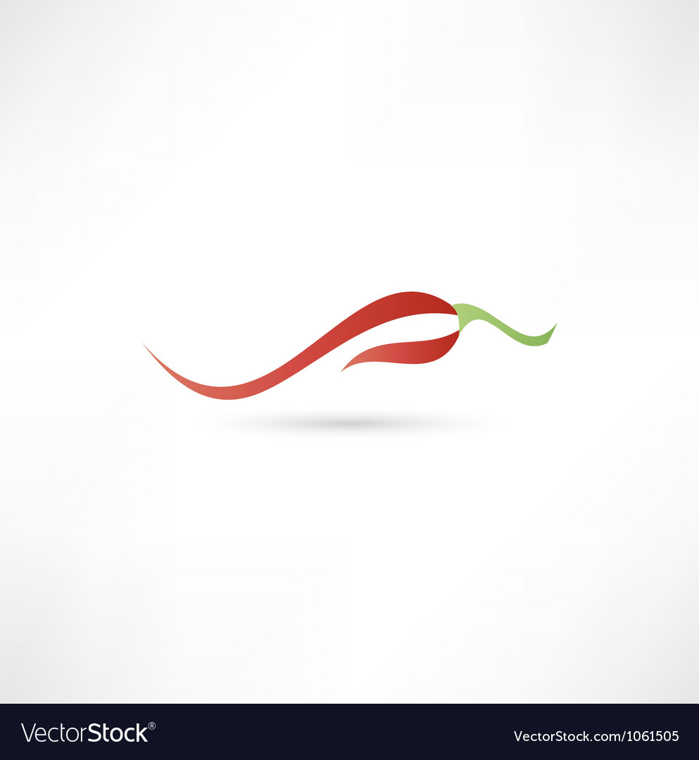 Icon of red hot chili pepper vector | Price: 1 Credit (USD $1)