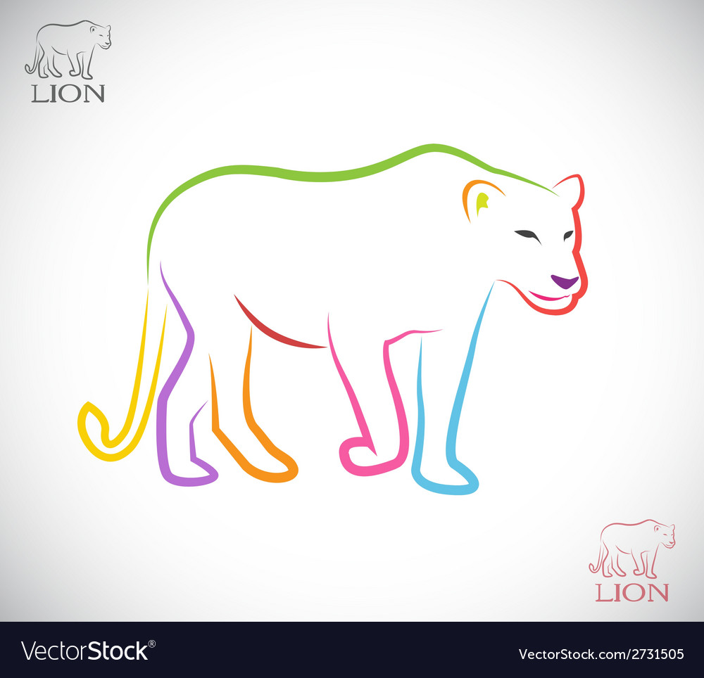 Image of an female lion vector | Price: 1 Credit (USD $1)