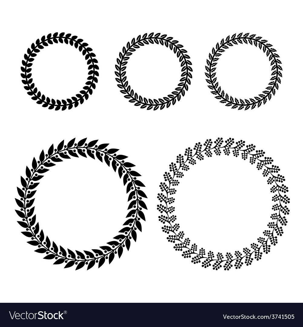 Laurel wreaths set vector | Price: 1 Credit (USD $1)