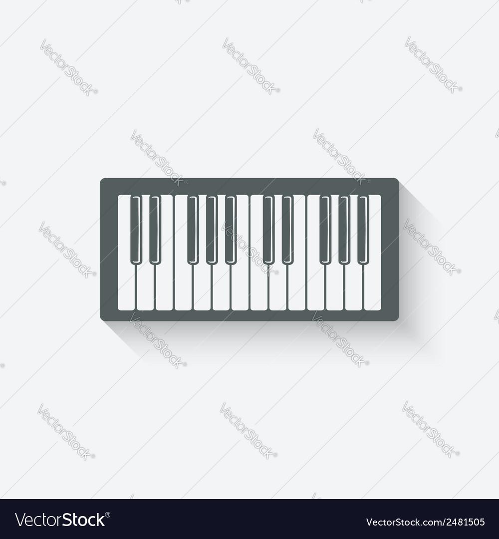 Piano music design element vector | Price: 1 Credit (USD $1)