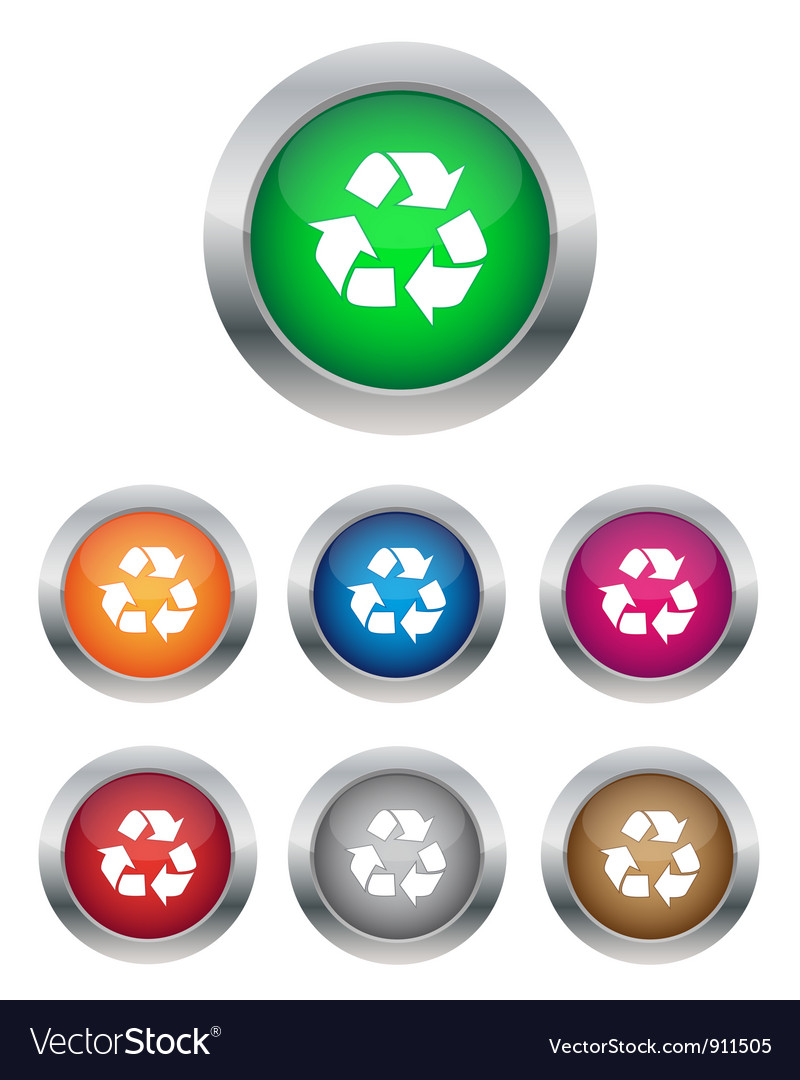Recycle buttons vector | Price: 1 Credit (USD $1)