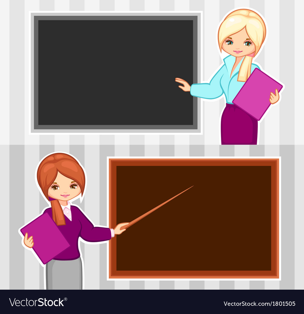 Teacher and business woman vector | Price: 1 Credit (USD $1)