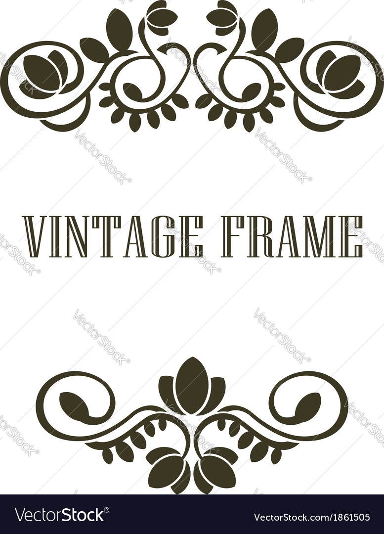 Vintage frame border elements vector | Price: 1 Credit (USD $1)