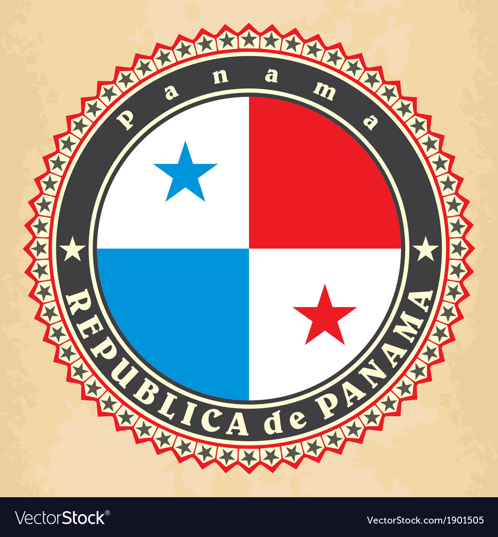 Vintage label cards of panama flag vector   Price: 1 Credit (USD $1)