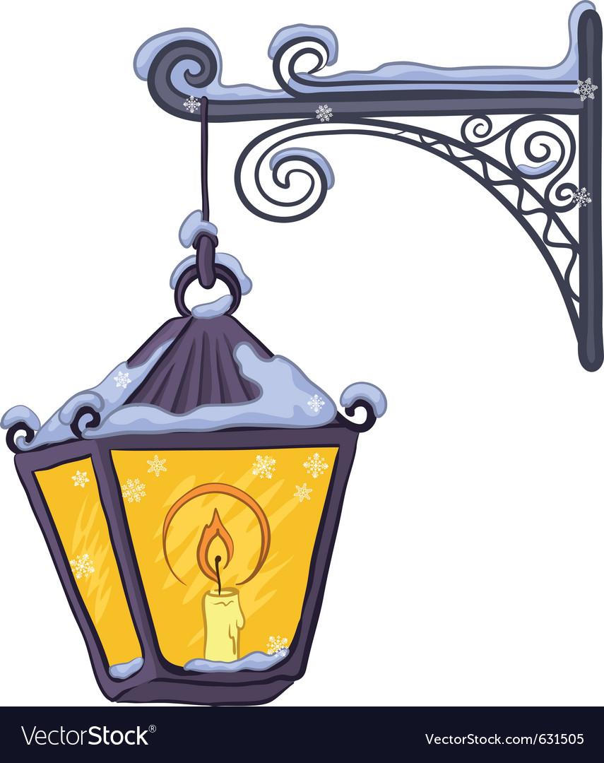 Vintage lantern vector | Price: 1 Credit (USD $1)