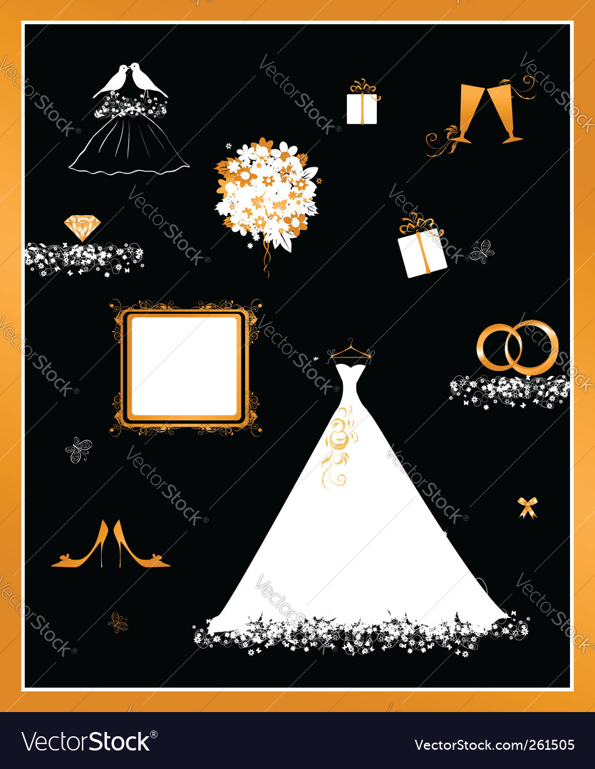 Wedding dress vector | Price: 1 Credit (USD $1)