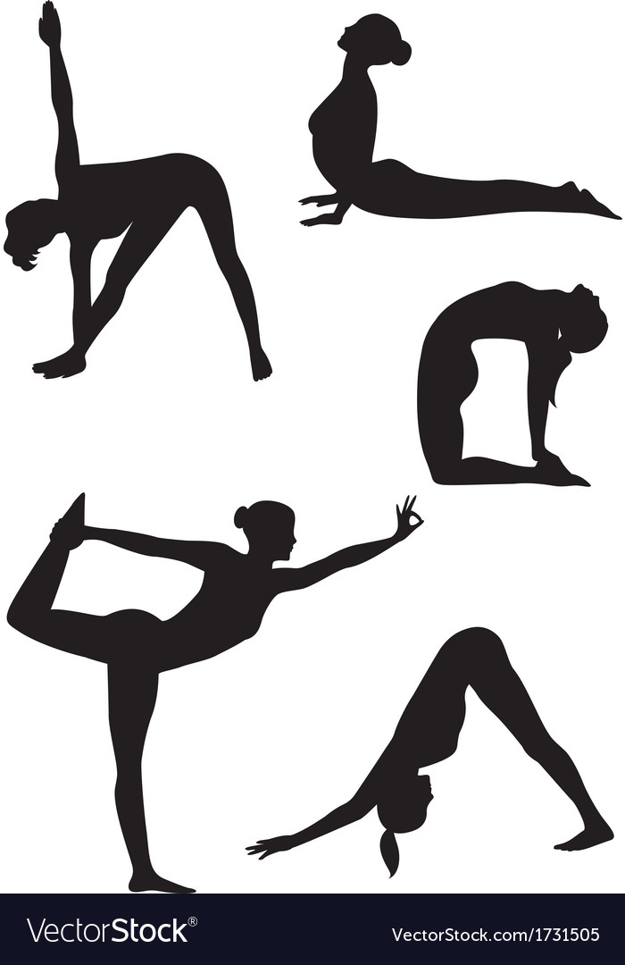 Yoga women icons vector | Price: 1 Credit (USD $1)