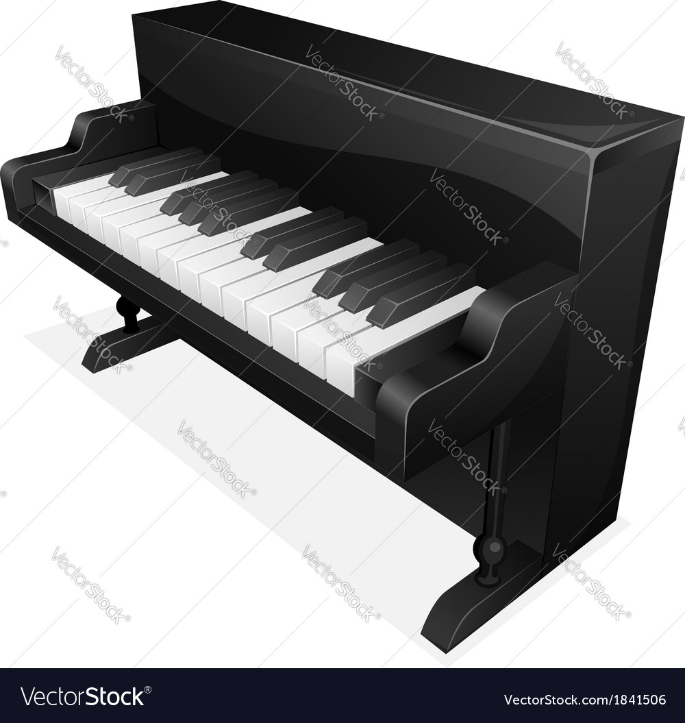 Big black piano vector | Price: 1 Credit (USD $1)