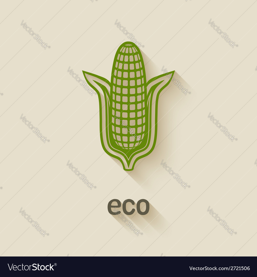 Corn eco symbol vector | Price: 1 Credit (USD $1)