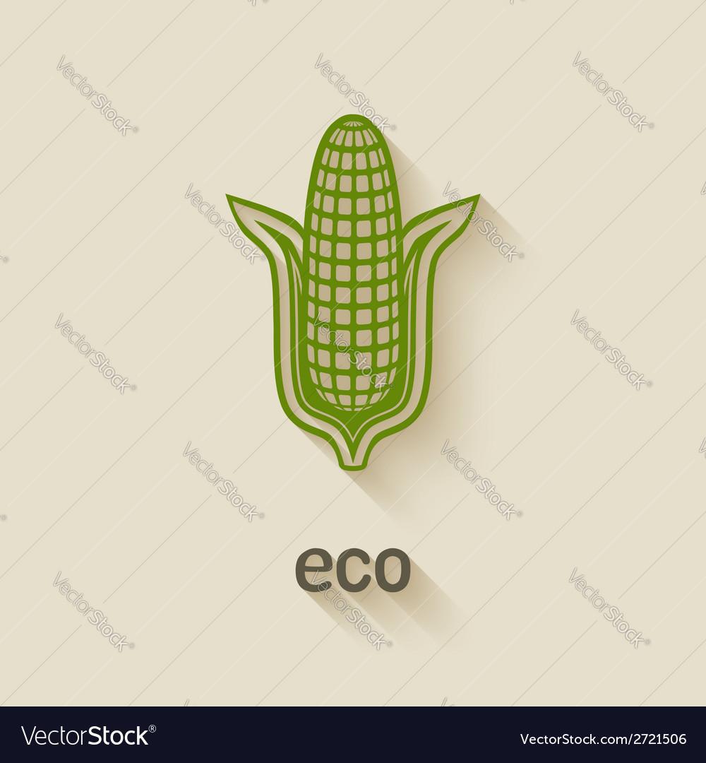 Corn eco symbol vector   Price: 1 Credit (USD $1)