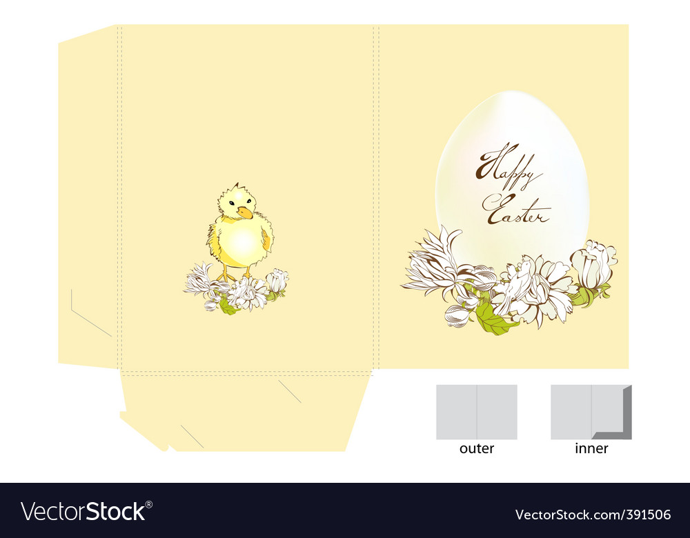 Easter folder vector | Price: 1 Credit (USD $1)